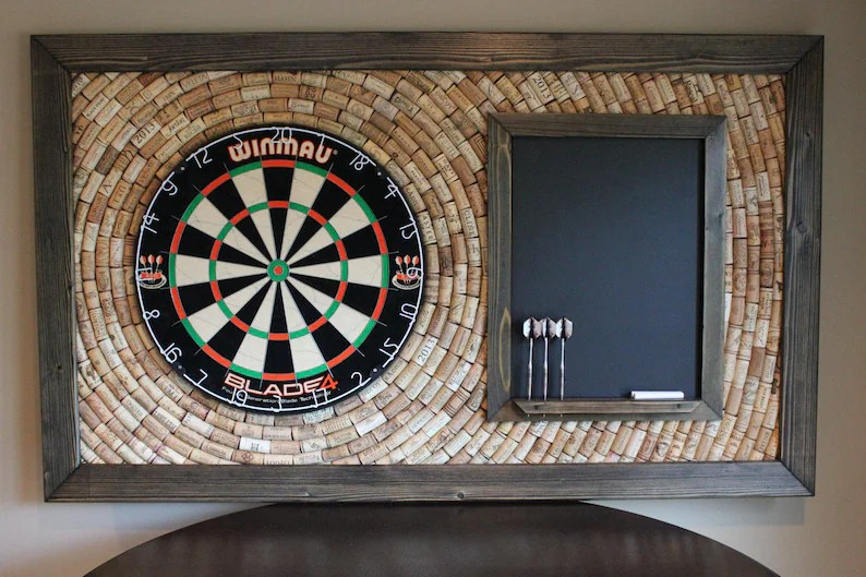 dart board backerboard with