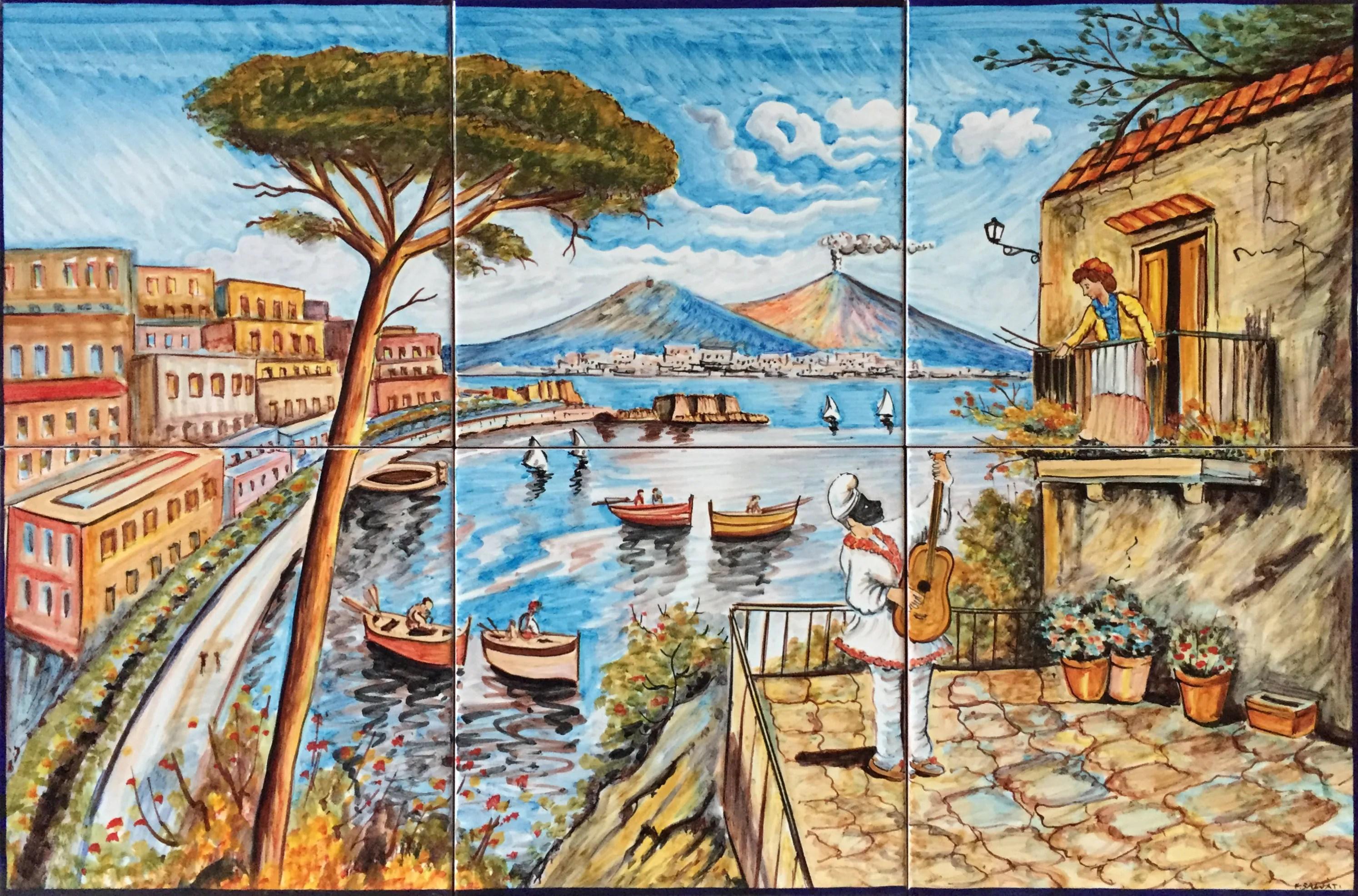 Bodenfliesen Fliese Wandbild Antike Ansicht Von Neapel 800 | Etsy