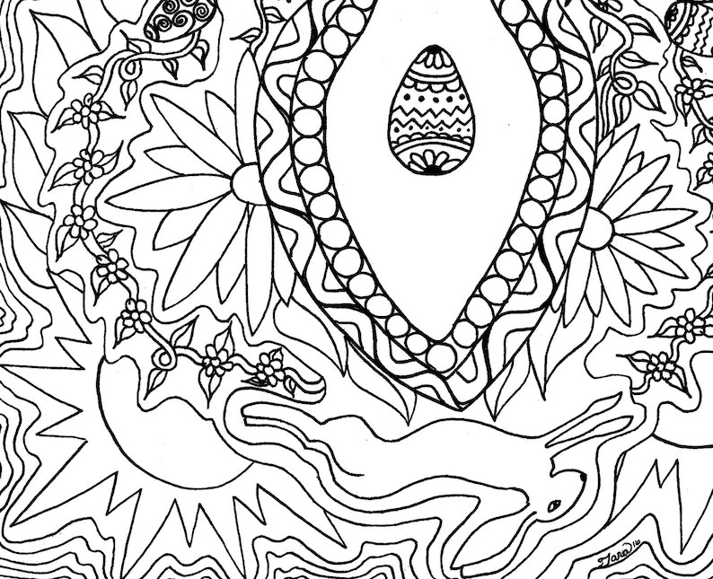 Coloring Book Page Printable Coloring Pages Ostara Sabbat
