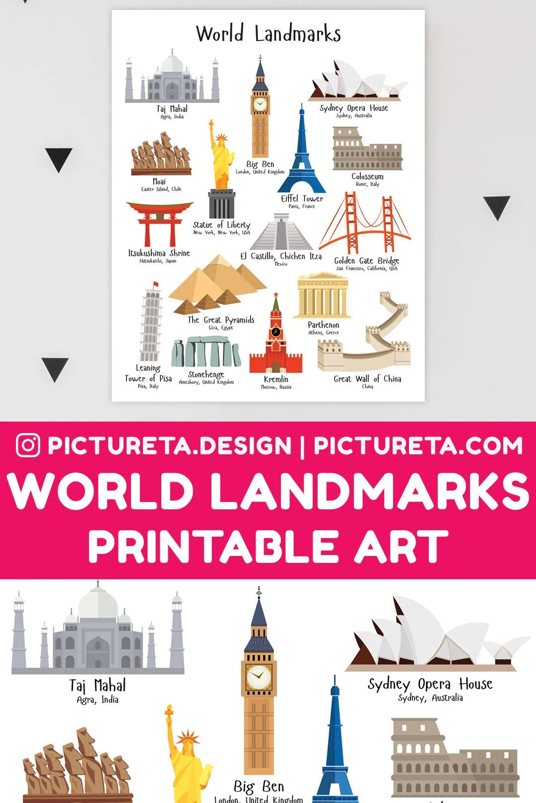 Printable Art Points De Repere Pepiniere Imprimables