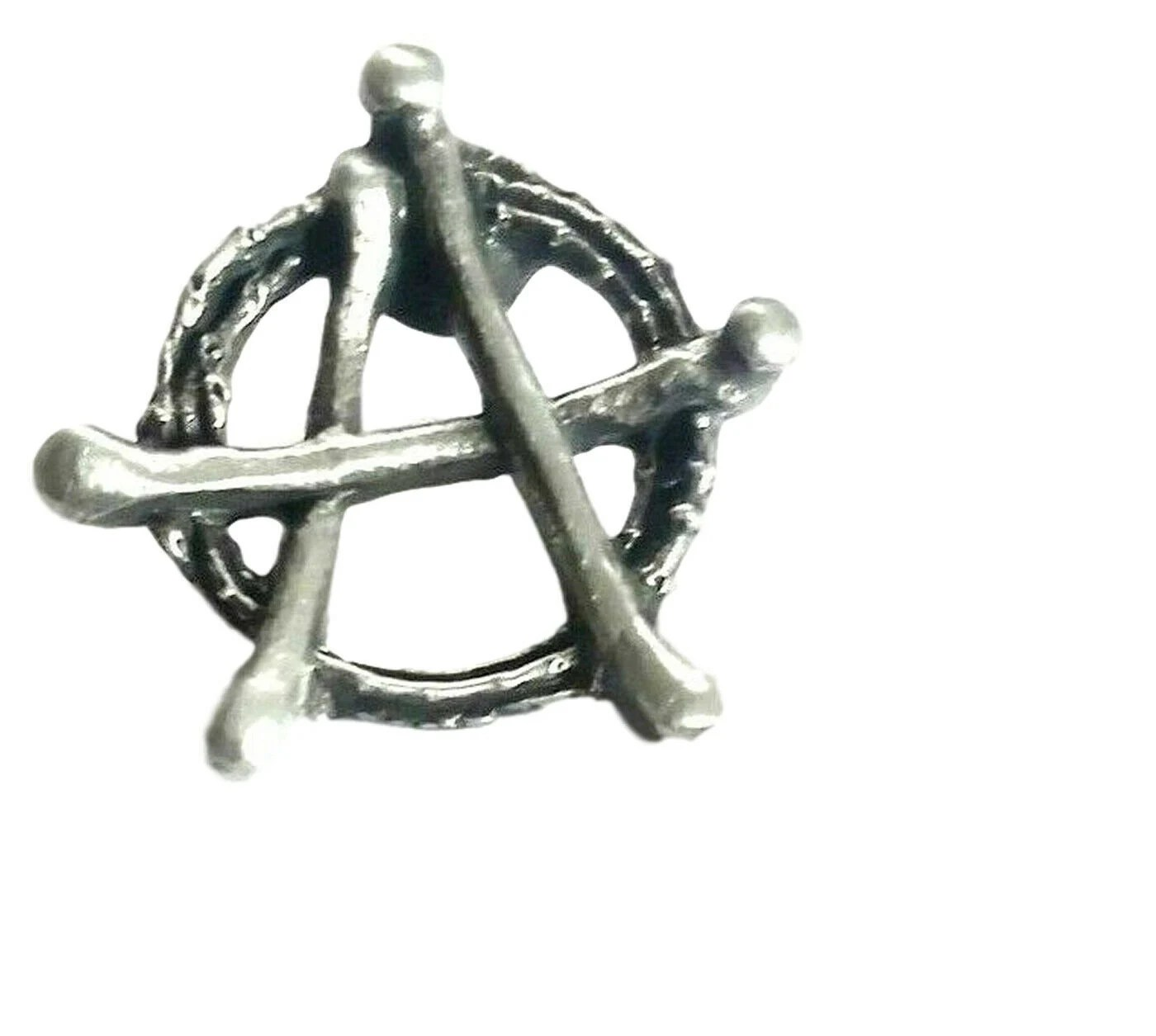 Anarchy Logo Handcrafted in Solid Pewter In UK Lapel Pin