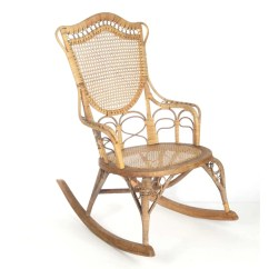 Wicker Rocking Chair Barber Free Shipping Etsy Antique Wakefield Rattan Co Label 19th C Natural Ladies