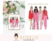 Fashion Girl Illustration - Fashion illustration print - personalized gifts for her -  women art illustration - gift ideas for her