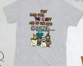 "The ""Hand Over The Candy"" Short-Sleeve Gildan 64000 Unisex T-Shirt"