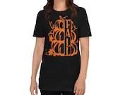 The Fall Pumpkin Stack Unisex Basic Softstyle T-Shirt | Gildan 64000 Short-Sleeve Unisex T-Shirt