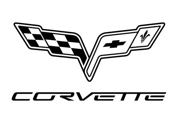 Corvette Car logo dealership garage sticker vinyl decal