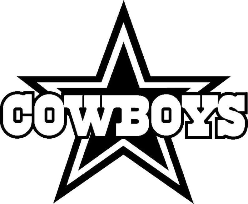 Dallas Cowboys football team logo wall decal vinyl sticker