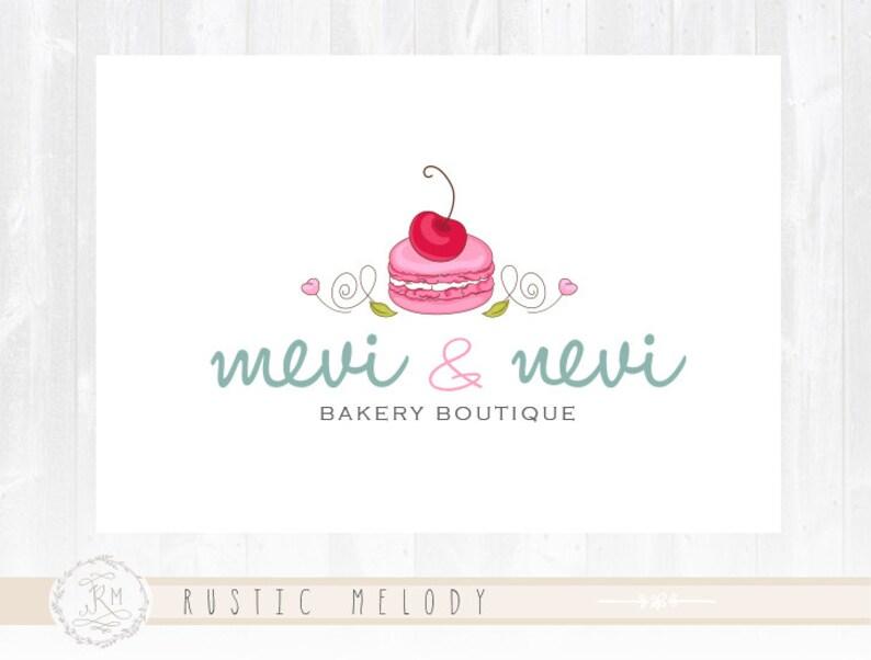 Bakery Shop Logo Macaron Logo Bakery Logo Sweets Logo Etsy
