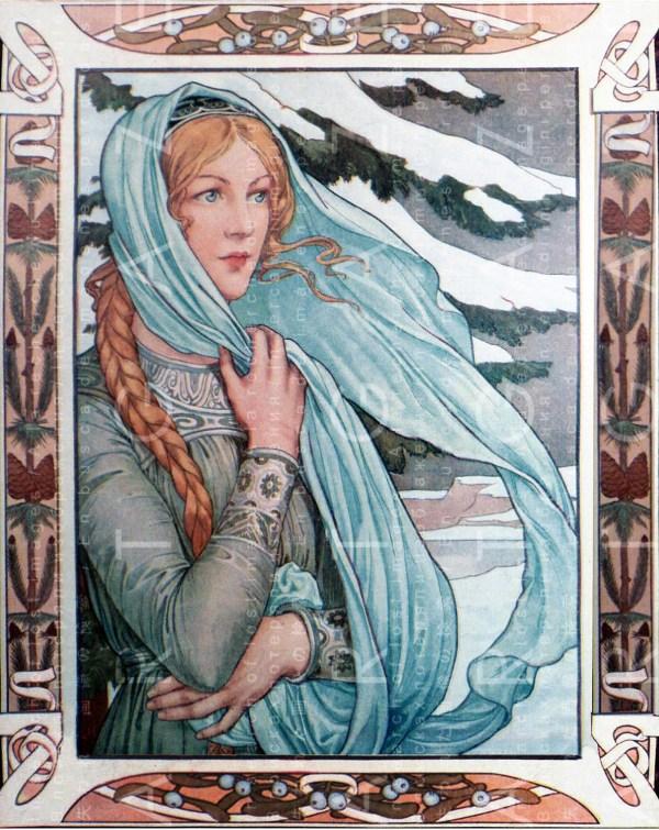 Winter Sprite Stunning Illustration. Art Nouveau