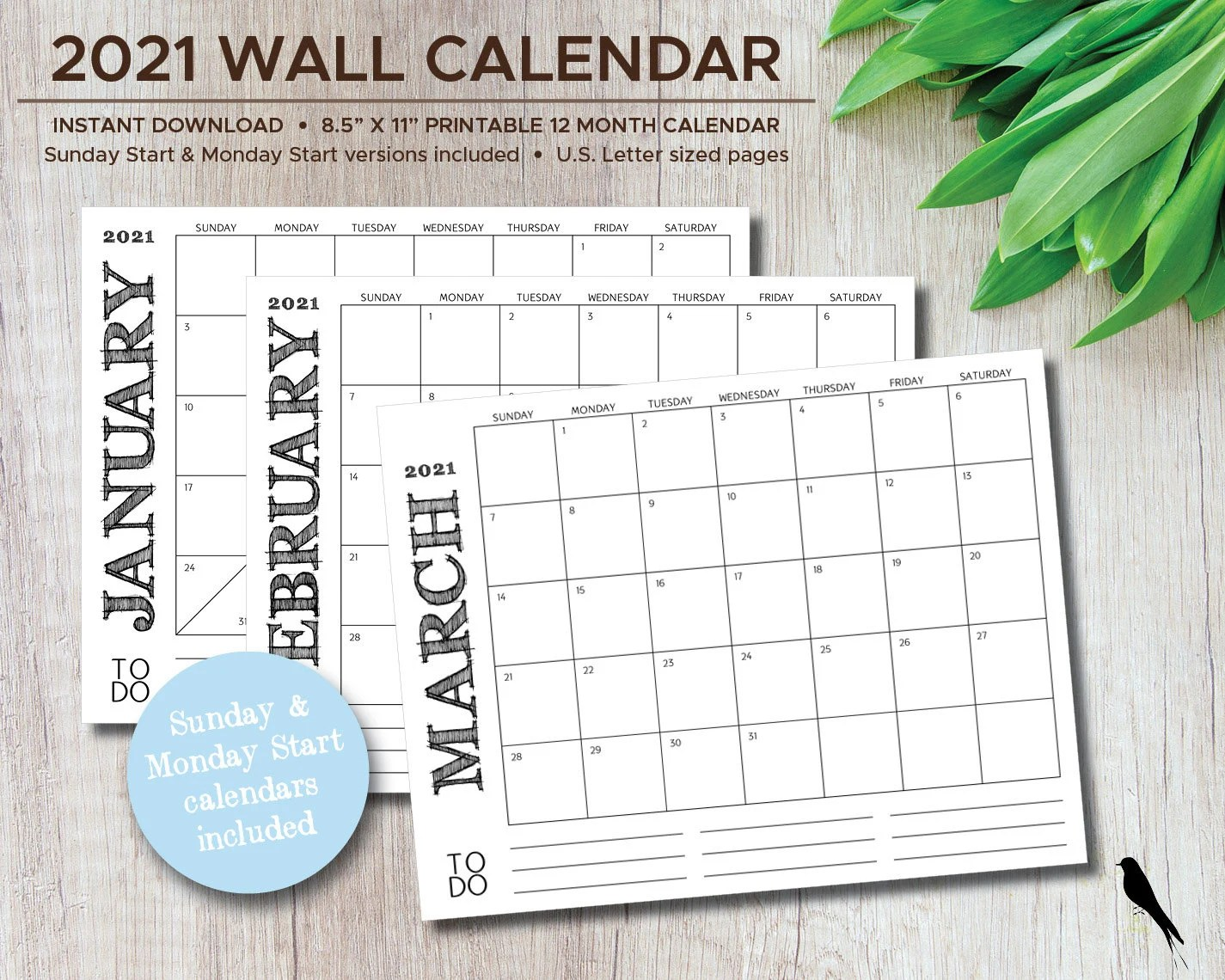 Online calendars you can use to track events and organize your time. 2021 12 Month Printable Calendar Free : 2021 12-Month ...