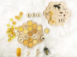 Honey bee puzzle  honeycomb  bee life cycle  types of bees image 3