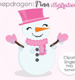 snowman clipart snowman cute digital clipart winter clipart christmas clipart happy snowman with scarf commercial license included [ 2917 x 2500 Pixel ]