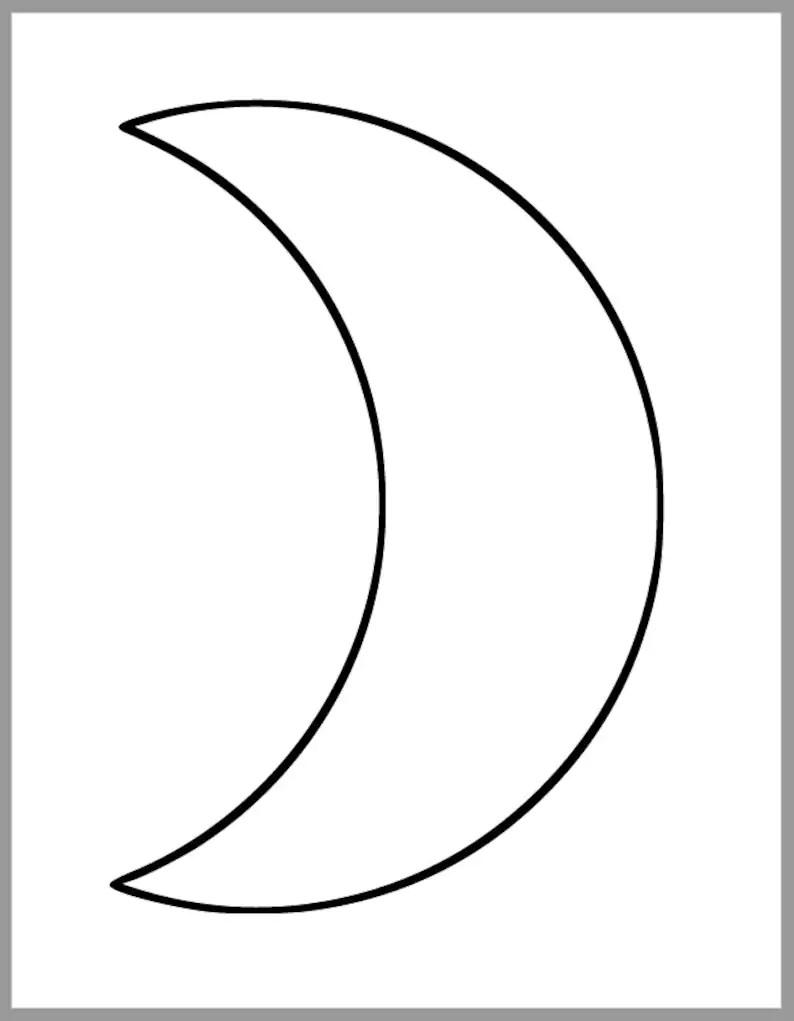 printable moon template large