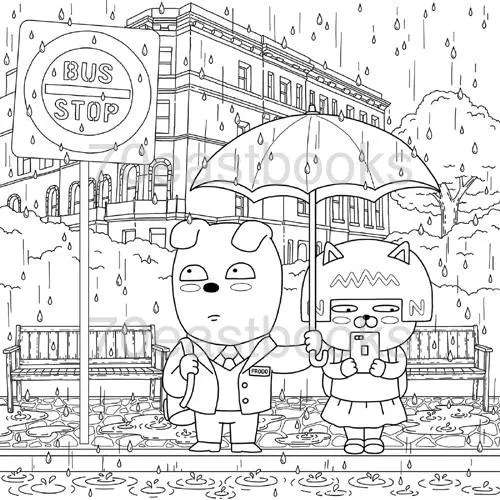 KAKAO FRIENDS Story Coloring Book KAKAO Korean Colouring