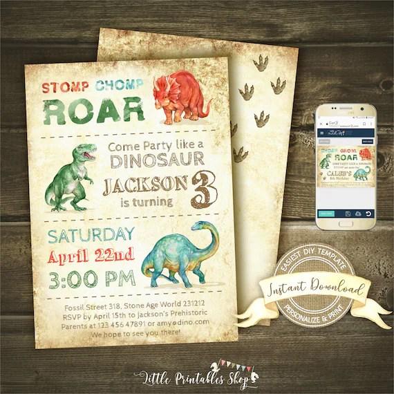 dinosaur invitation instant access