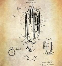 patent art print heald concert horn musical instrument patent art print brass musical instrument patent art print john head patent [ 1000 x 1250 Pixel ]