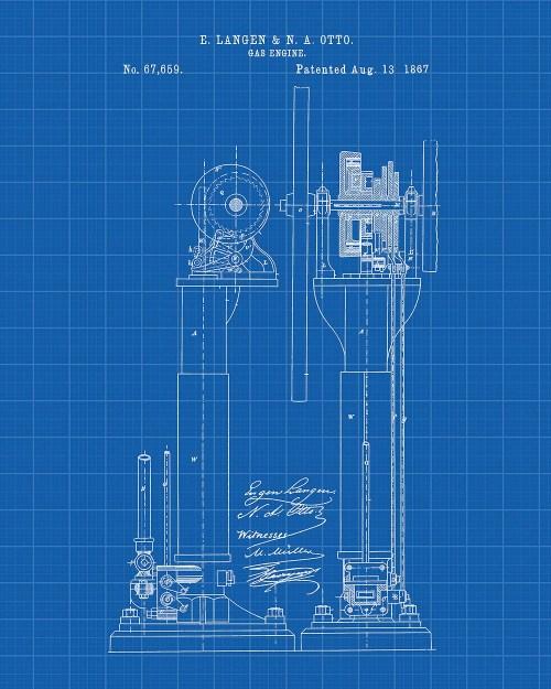 small resolution of langen otto improvements in air engines patent art print langen otto patent print gas engine patent print internal combustion engine