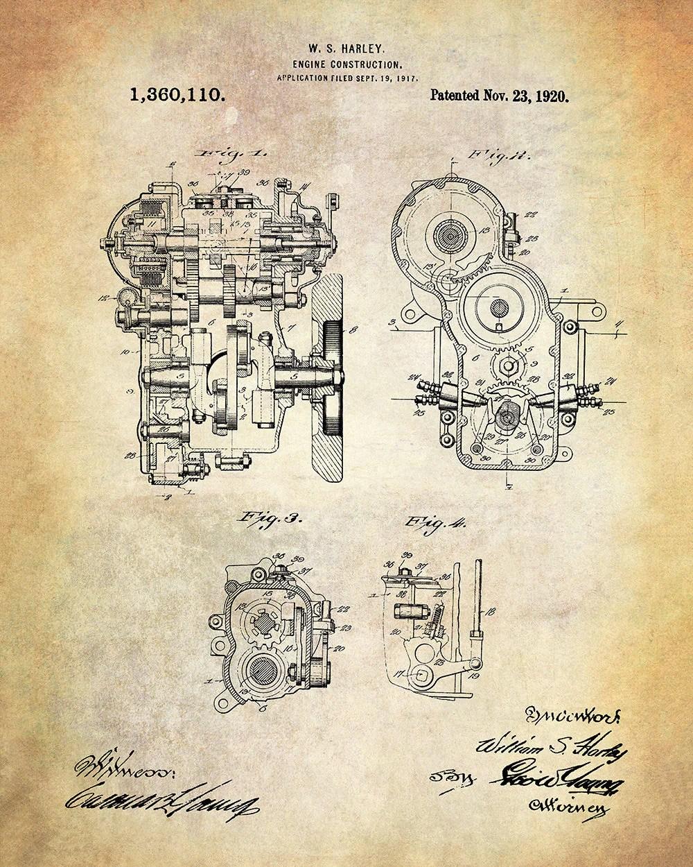 medium resolution of harley engine construction patent art print harley davidson motorcycle engine patent art print harley davidson patent print