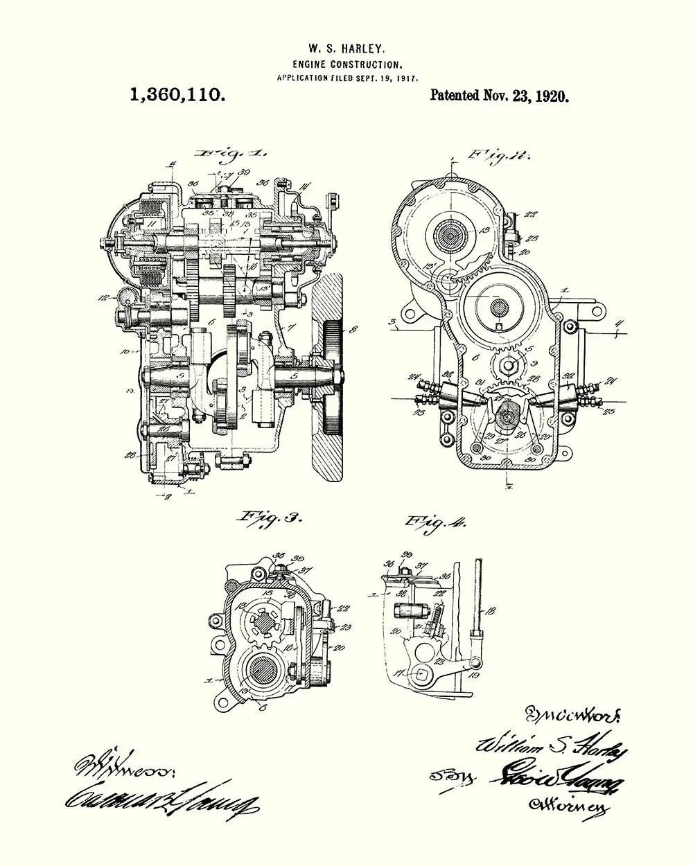 hight resolution of harley engine construction patent art print harley davidson motorcycle engine patent art print harley davidson patent print