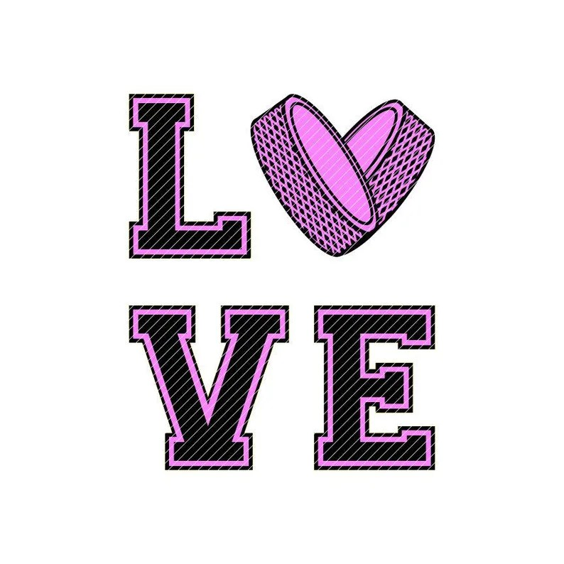 Download LOVE puck heart hockey svg jpg png clipart tshirt design ...