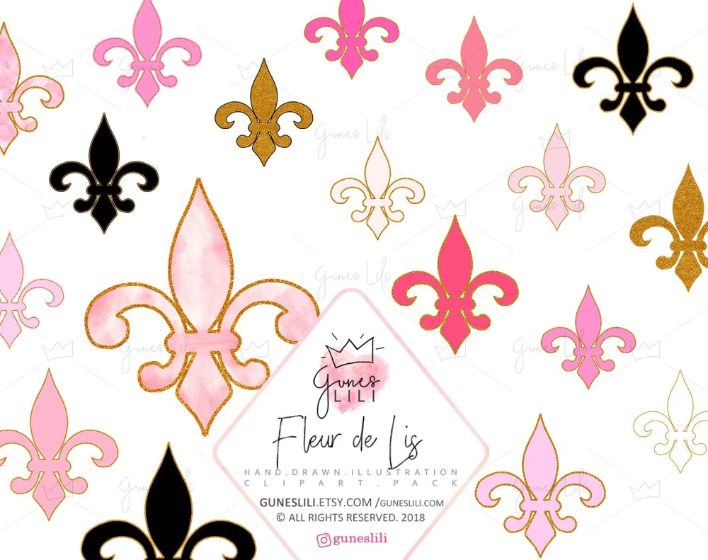 medium resolution of 50 pink fleur de lis clipart