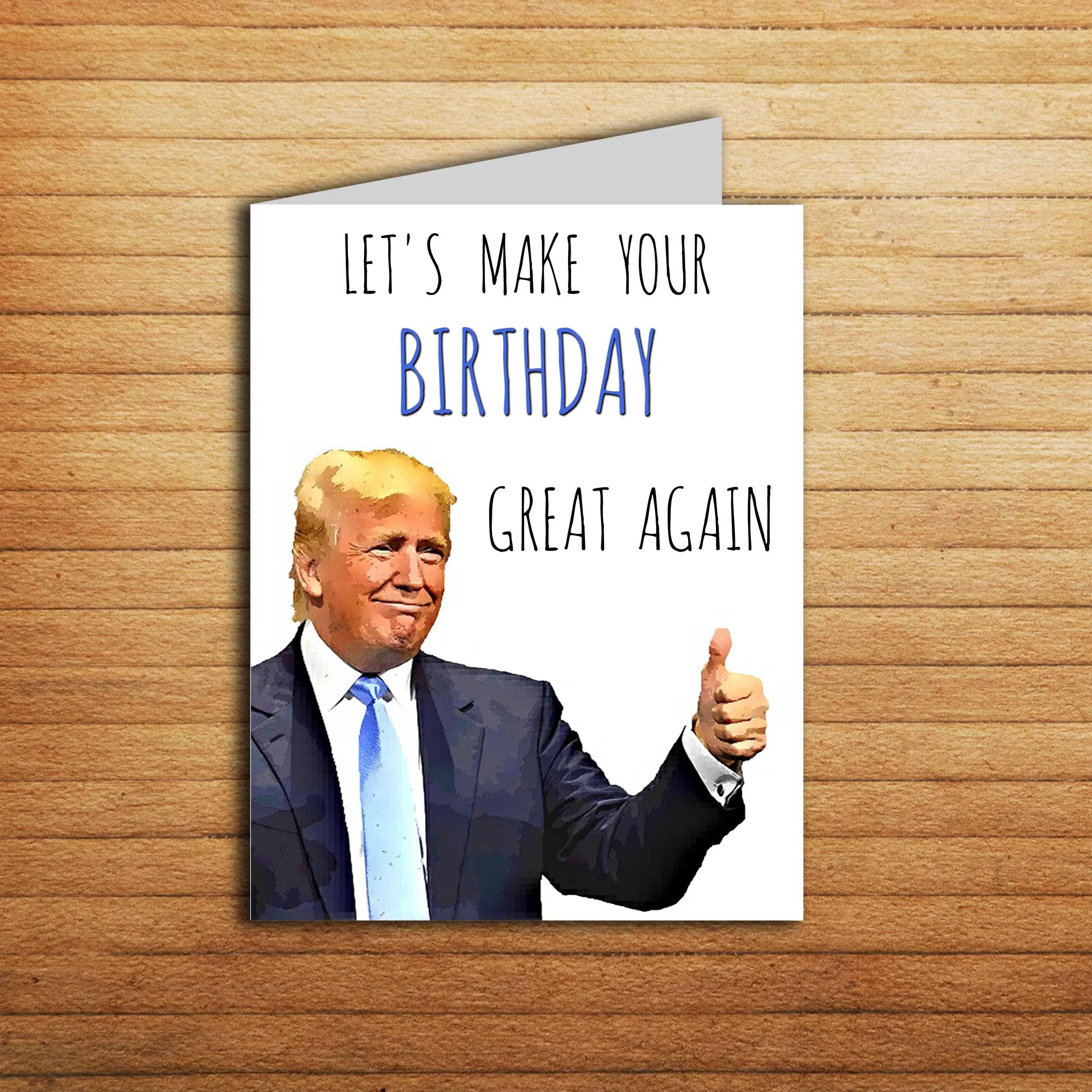 Donald Trump Card Birthday Card For Boyfriend Birthday