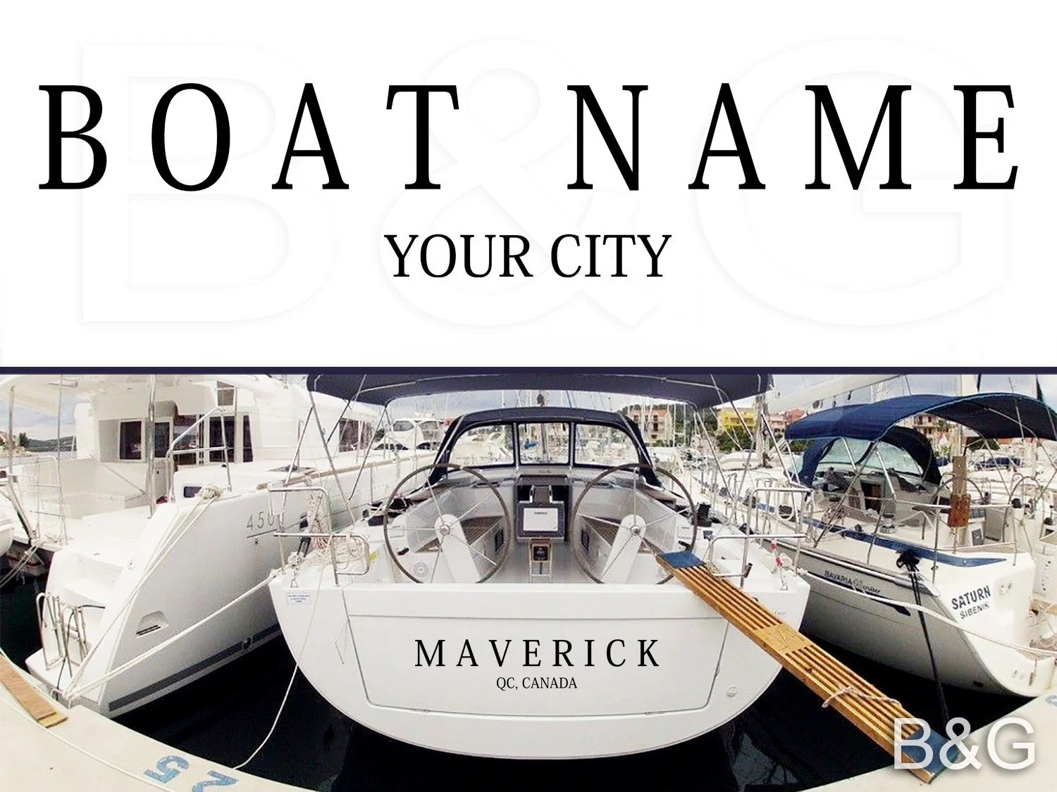 Custom Boat Name Decal  Boat name Personalized Decals  image 1
