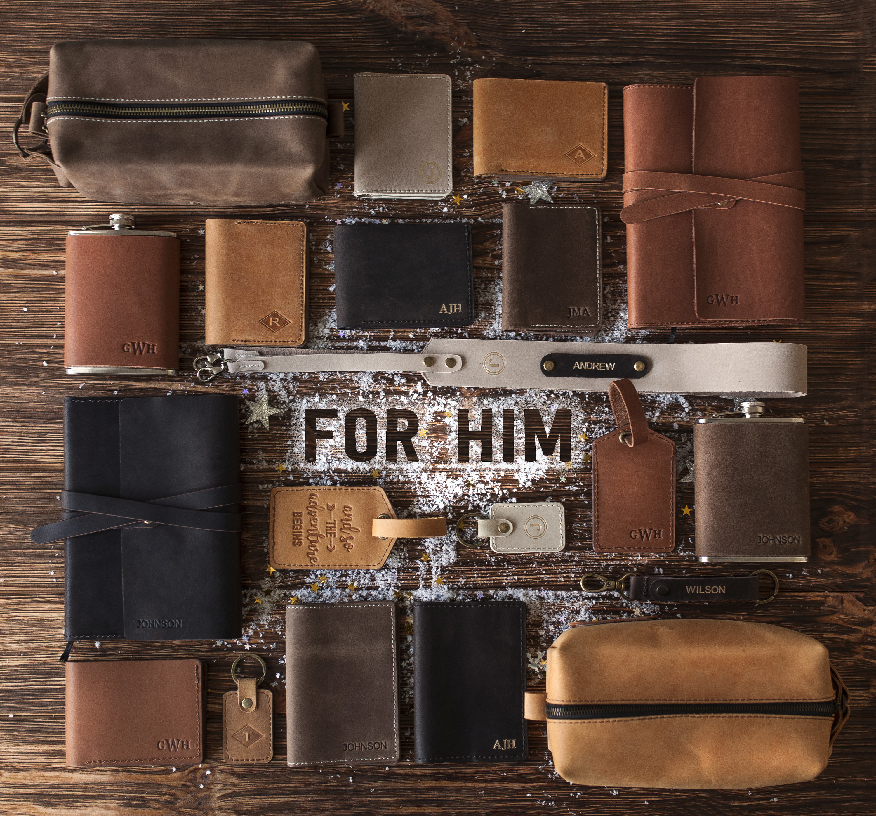 Personalized leather dopp kit mens leather toiletry bag mens image 5