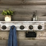 Whitewash 5 5 Deep Shelf Coat Rack Towel Holder Entryway Storage Bathroom Decor Farmhouse Industrial Rustic Wall Hooks Pipe Hook