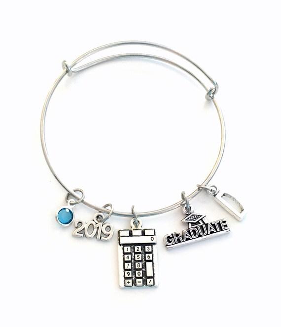 High School Graduation Bracelet Calculator Math Gift for