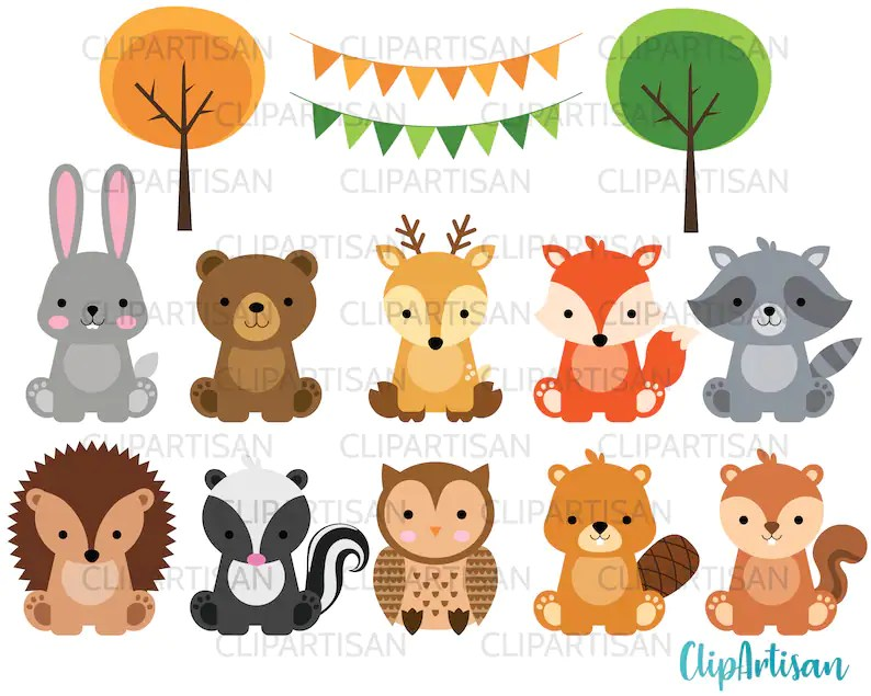 Once a forest is lost to unsustainable agriculture, it is usually gone forever—along with many of the plants and animals that once lived there. Woodland Baby Animals Clipart Forest Animal Clipart Etsy