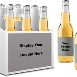 6 Pack Box Template And Mock Up Etsy
