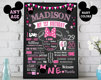 1st birthday poster etsy