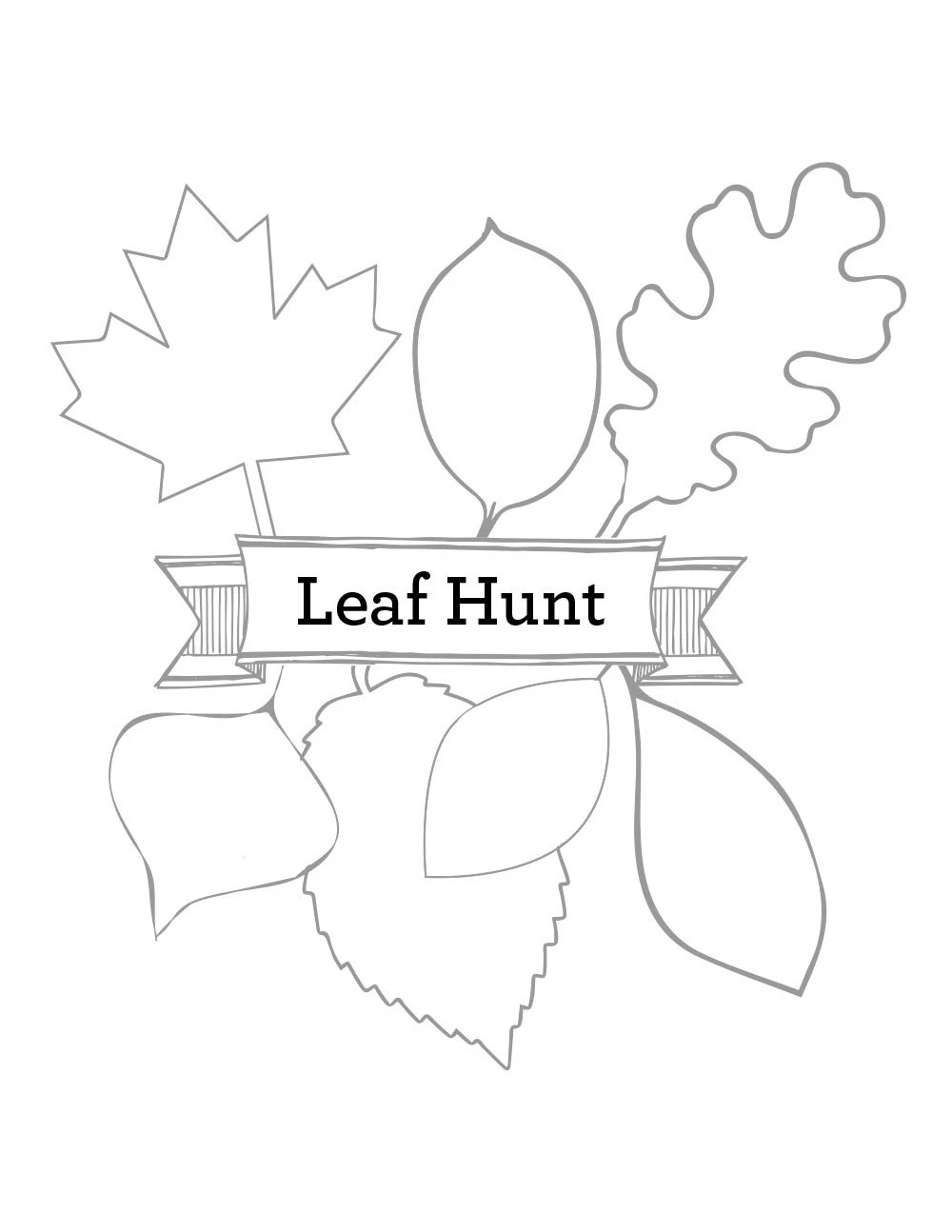 Camping Game Nature Game Instant Download Leaf Scavenger