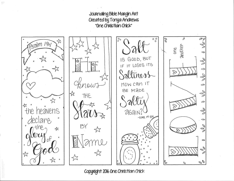 Bible Journaling Margin Art Salt