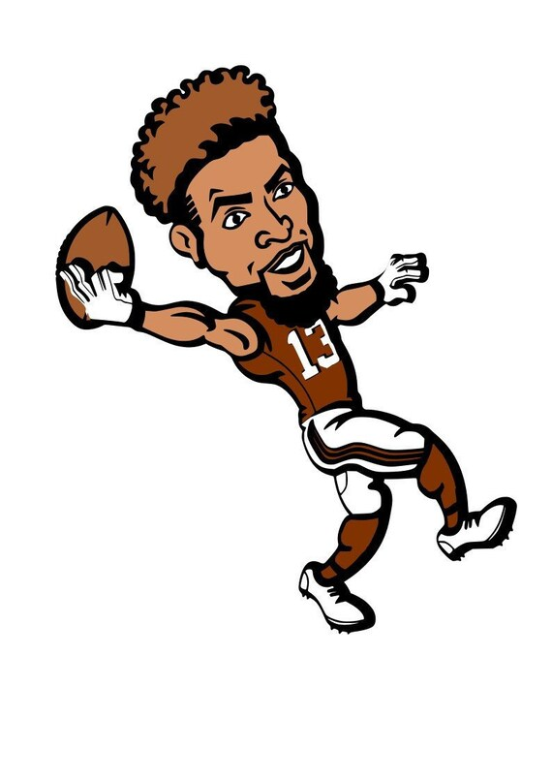 Cartoon Odell Beckham Jr : cartoon, odell, beckham, Odell, Beckham, Instant, Download