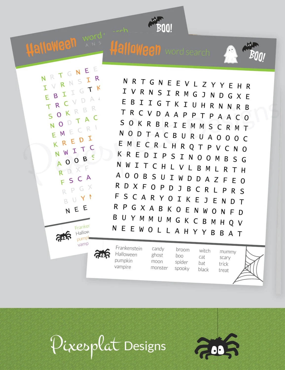 Halloween Word Search Game Printable Halloween Party Games