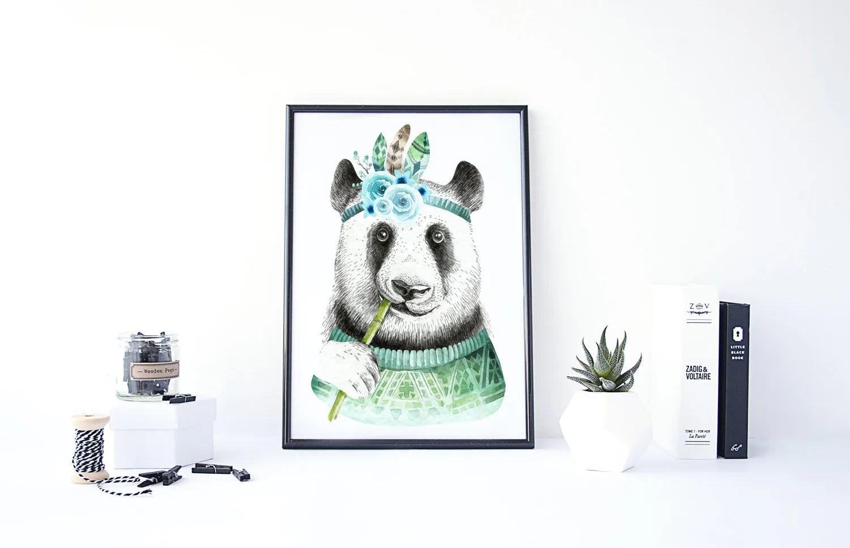 Panda Print Panda Malerei Baby Zimmer Drucke Erschwingliche