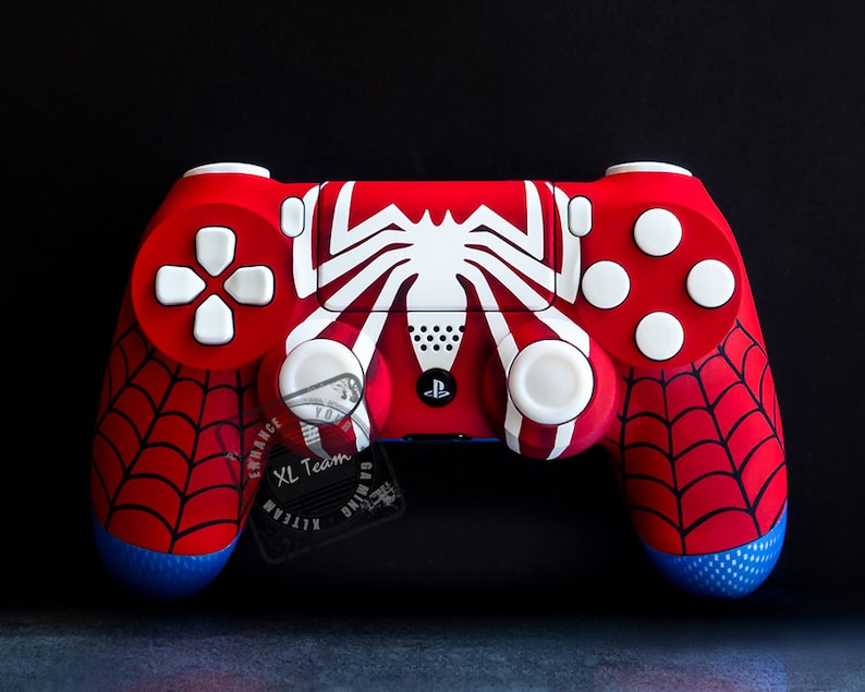 custom spiderman themed playstation