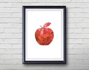 apple wall art etsy