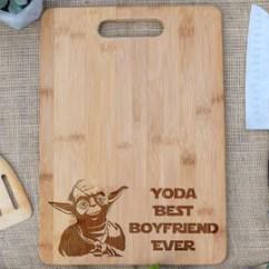 Kitchen Cutting Board Window Treatment Ideas For Funny Etsy Yoda Best Boyfriend Ever Star Wars Gift Present Birthday