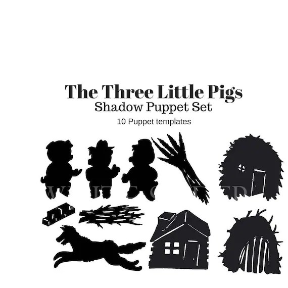 Instant Download The Three Little Pigs digital shadow