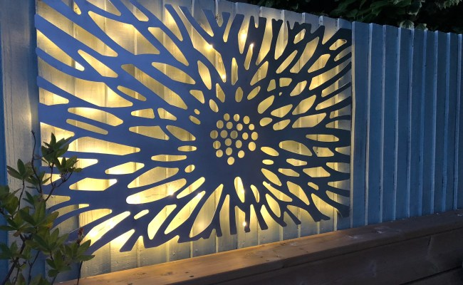 Laser Cut Decorative Metal Wall Art Panel Garden Wall