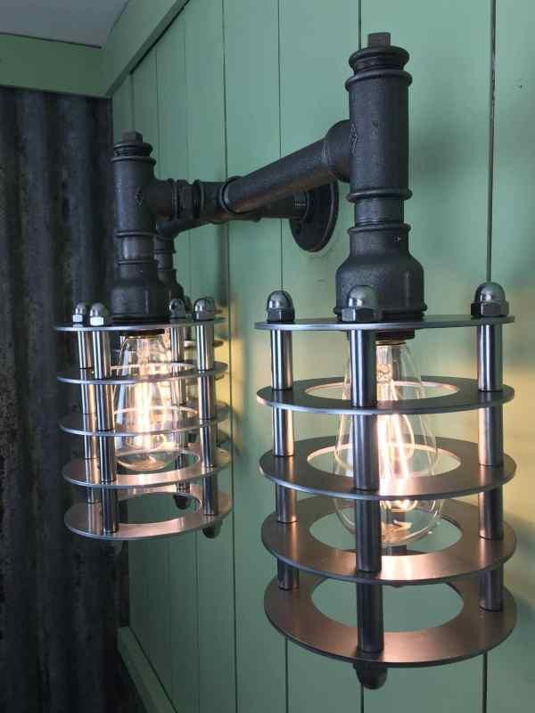 Handmade Urban Industrial Wall Light Art Deco Steampunk