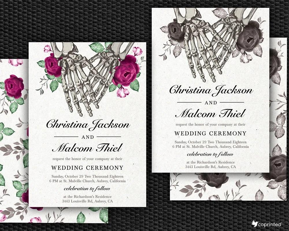 halloween wedding invitations wedding