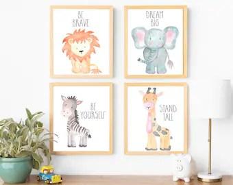 safari nursery decor wall