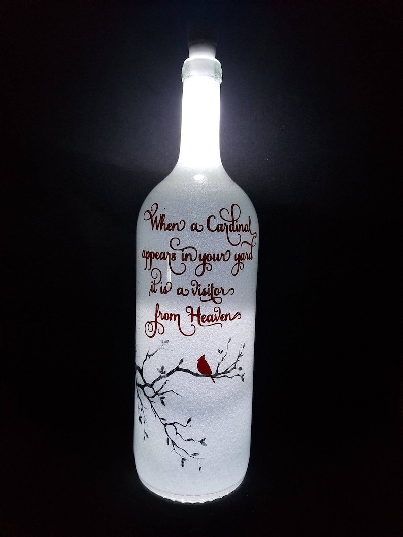 etched and glittered wine