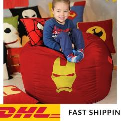 Bean Bag Chair Covers Reclining Outdoor With Ottoman Iron Man Kids Cover Superhero Etsy Image 0