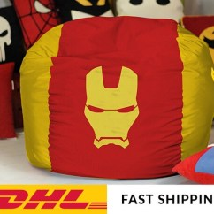 Avengers Bean Bag Chair Homemade Covers Iron Man Cover Superhero Etsy Image 0