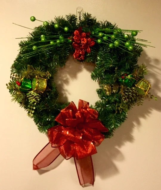 small christmas wreath with
